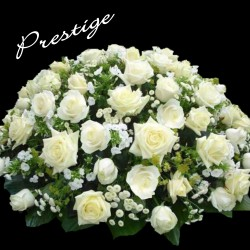 LYON FUNÉRAL ARRANGEMENT - WHITE PRESTIGE CUSHION