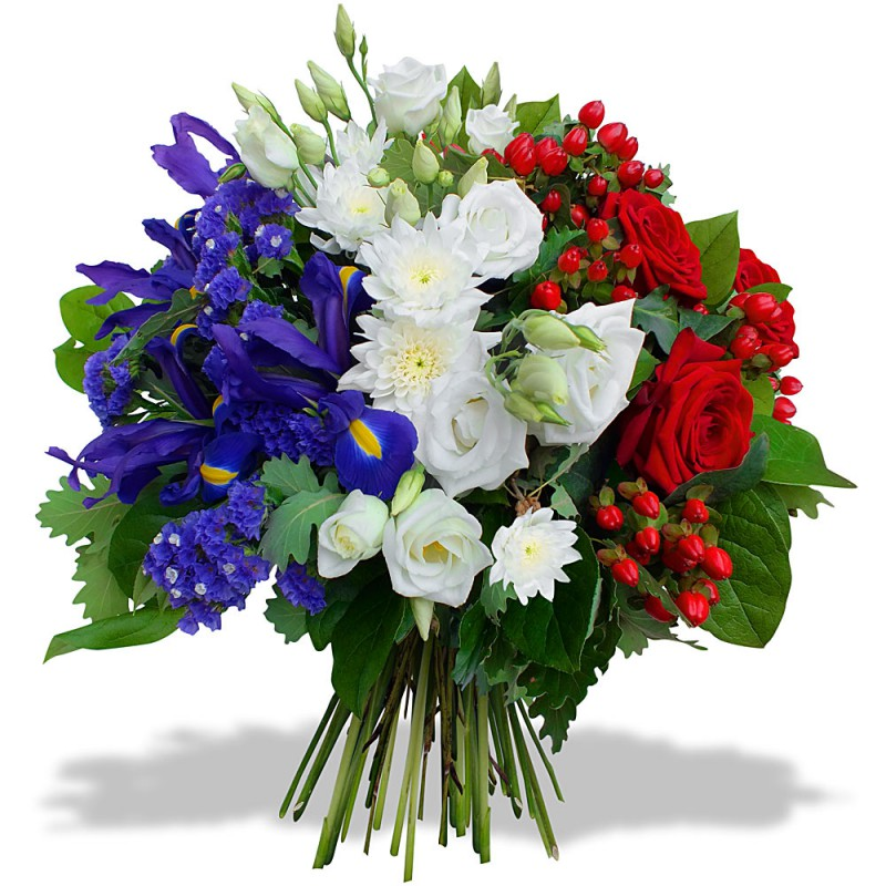 LYON FUNÉRAL FLOWERS - BLEU BLANC ROUGE