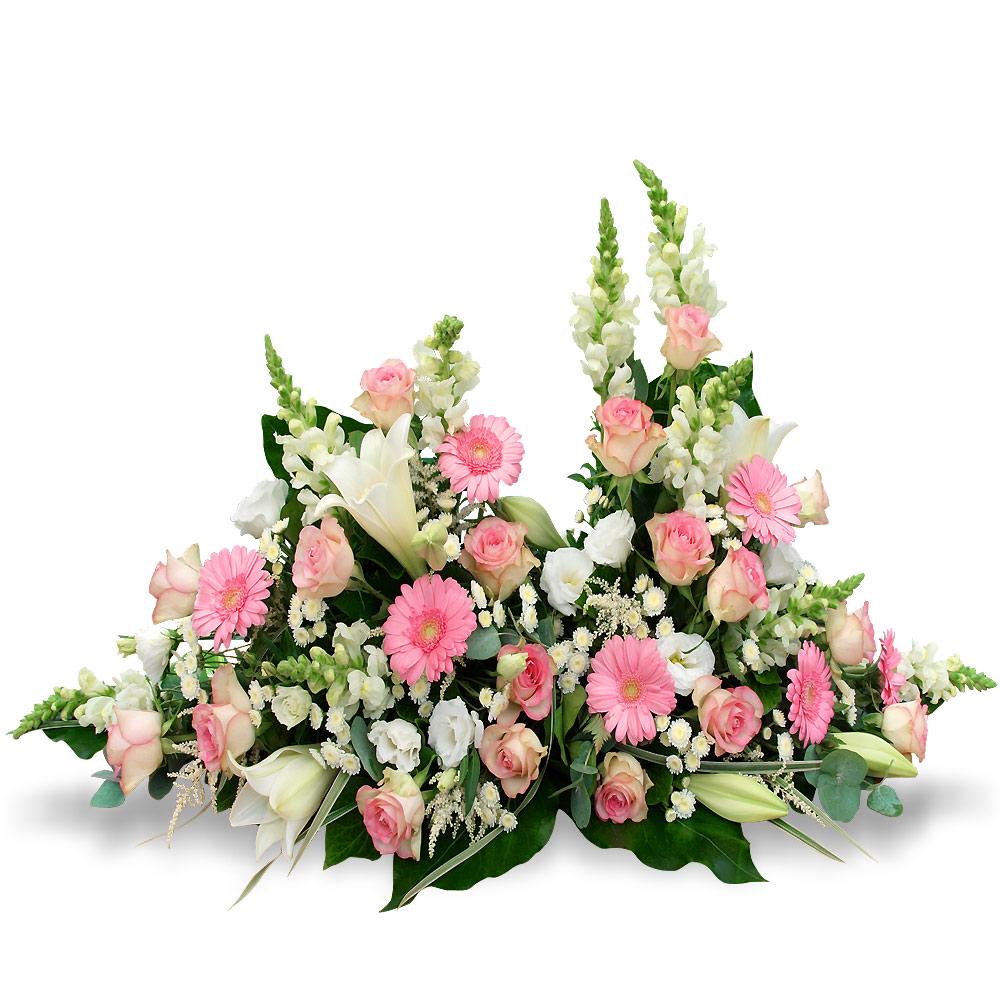 PIÈCES DE DEUIL TRADITIONNELLES Gerbes, couronnes, coussins, coeurs, croix pour deuil, obsèques, enterrement.
