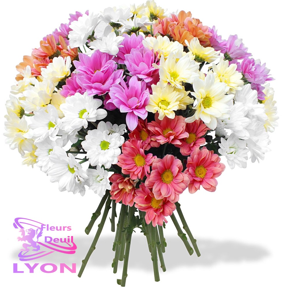 bouquet fleurs deuil AIGUEBLANCHE